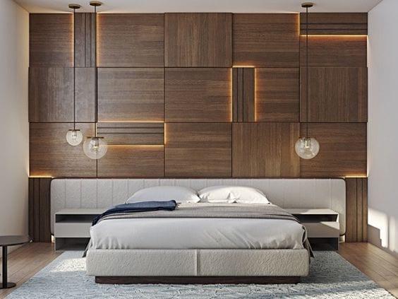 Drvene obloge zida kao vid dekora tis plo asti materijali za opremanje enterijera for Wooden bed designs pictures interior design